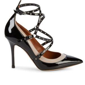 Valentino Garavani Grommet Strap Patent Leather
